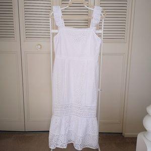 Beautiful white maxi Banana Republic dress 6